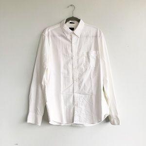 J. Crew Factory White Oxford Slim Fit Button Down